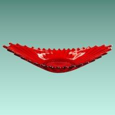 Fostoria Heirloom Ruby Red Glass #2729/540 Oval Bowl