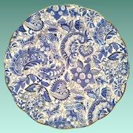 Royal Standard Bone China #1445 Blue Paisley Chintz Luncheon Plate