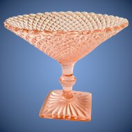 Miss America Pink Depression Glass Round Compote by Hocking