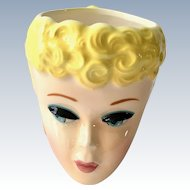 1989 Ponytail Barbie Mug by Clay Art Licensed by Mattel