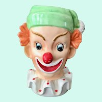 Napcoware Redheaded Clown Planter Head Vase C3321
