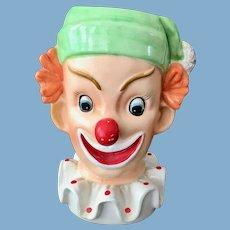 Napcoware Redheaded Clown Planter Head Vase C3321
