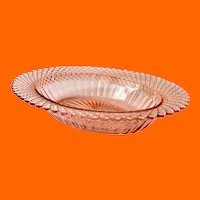 Miss America Pink Depression Glass Oval Serving Bowl by Hocking