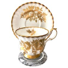 Royal Albert Golden Rose Bone China Teacup and Saucer