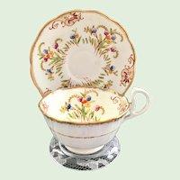 Early Royal Albert Crown China 8553E Teacup and Saucer