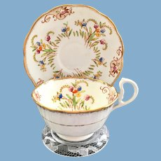 Early Royal Albert Crown China 8553E Teacup and Saucer