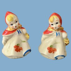 Little Red Riding Hood Small Salt and Pepper Hull Pottery