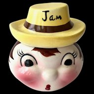DeForest of California Pottery Anthropomorphic Jam Jar