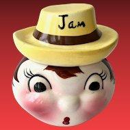 DeForest of California Pottery Anthropomorphic Jam Jar