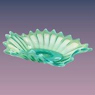 Fostoria Heirloom 1515/270 Green Opalescent Oblong Bowl Circa 1960s