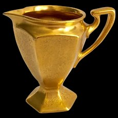 B&Co Limoges Pickard Gold Plain Encrusted AOG Creamer circa 1920s