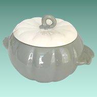 Earl China Hoenig of California Pottery Gray Pumpkin Covered Bowl
