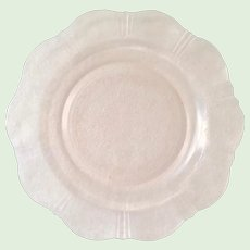 American Sweetheart Pink Depression Glass Dinner Plate by MacBeth Evans