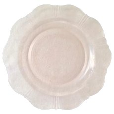 American Sweetheart Pink Depression Glass Dinner Plate by MacBeth Evans