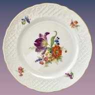 Schumann Dresden Bouquet Embossed Lattice Rim Salad Plate