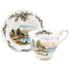 Royal Albert Bone China Traditional British Songs Road to the Isles Teacup and Saucer