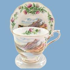 Royal Albert Bone China Traditional British Songs Bonnie Banks O'Loch Lomon' Teacup and Saucer