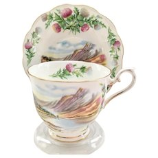 Royal Albert Bone China Traditional British Songs Bonnie Banks O'Loch Lomon' Teacup and Saucer