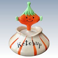 Holt Howard Pixieware Ketchup Condiment Jar with Spoofy Spoon