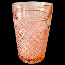 Miss America Pink Depression Glass 4-1/2 inch Water 10-oz Tumbler