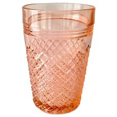 Miss America Pink Depression Glass 4-1/2 inch Water 10-oz Tumbler