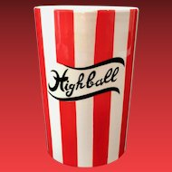 Yona Shafford Country Club Red and White Highball Tumbler
