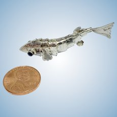 Miniature sterling articulated fish