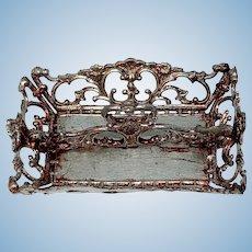 Soft metal silverware tray
