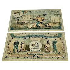 Pair of trade cards for New Home Sewing Machine