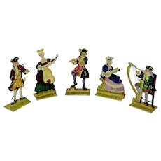 Box set of limited edition flat metal figures of musicians