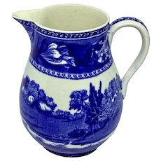 """Fallow Deer"" Blue by Wedgwood pitcher"