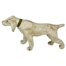 Chalkware dog figurine - hound pointer