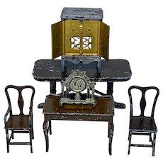 Vintage Tootsie Toy Co. furniture - six pieces
