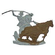 Flat metal horse drawn Roman chariot by KZ Scholtz