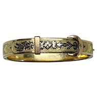 Taille d'epargne gold-plated bangle