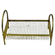Antique German metal dollhouse bed