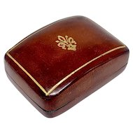 Miniature Florentine Italian leather box