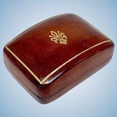 Miniature Florentine Italian leather box