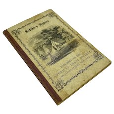 """Miniature Civil War book """"Soldier's Hymns"""" by the American Tract Society"""