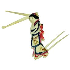 Figural folding toothpick and ear spoon