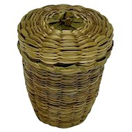 Miniature Native American lidded basket