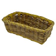 Miniature Native American rectangular basket