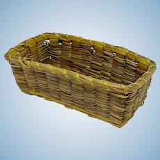 Miniature Native American rectangular basket