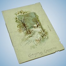 Antique seasonal booklet - Christmas Greeting