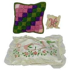 Three small pillows - sachets and pincushion