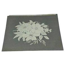 Floral paper cut work white work