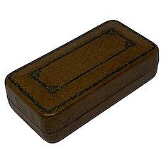 Miniature presentation box with velvet interior