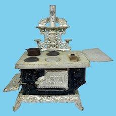 Antique doll-size cast iron stove - Eva by Kenton Brand