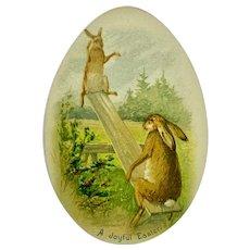 """""""A Joyful Easter"""" - Bunnies on a see saw"""