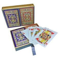 Vintage Congress playing cards - set of two complete decks